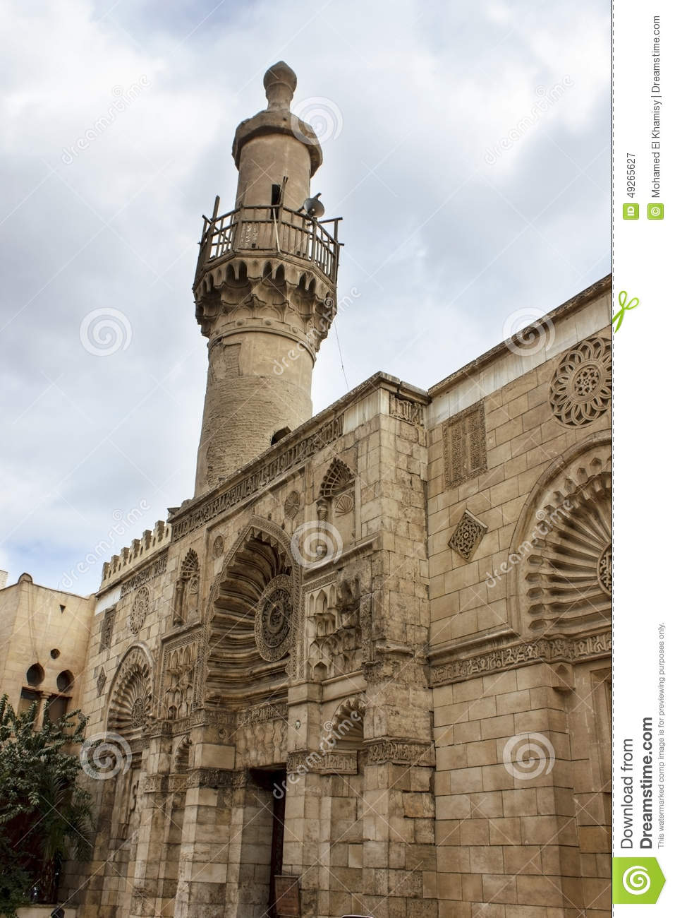 Mosque of al-Aqmar Cairo, Al-Aqmar Mosque, Also Called Gray Mosque, Is A Mosque In Cairo ...