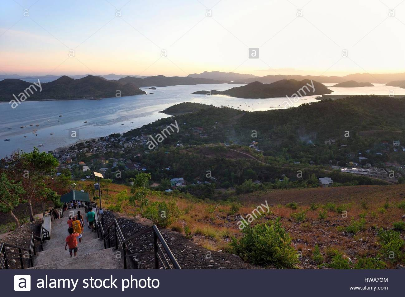 Mt Tapyas Coron Town, Philippines, Calamian Islands in northern Palawan, Coron Island ...