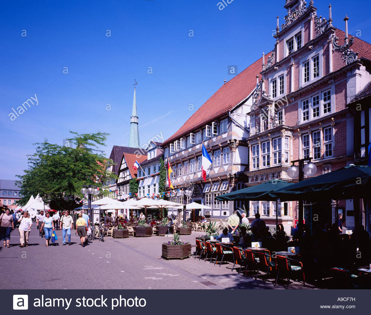 Museum Hameln The Fairy-Tale Road, Oster street, Leisthaus, Hameln, Fairy Tale Road, Germany Stock ...