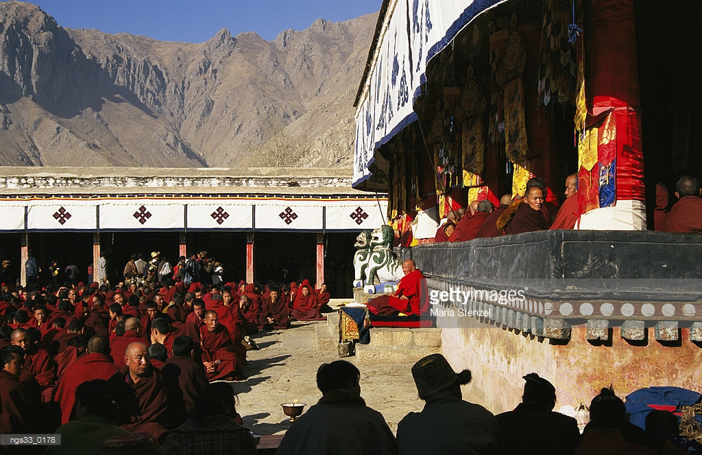 Museum of Antique Currency Beijing, Nechung Monastery Tibet Monks At Nechung Monastery West Of Lhasa ...