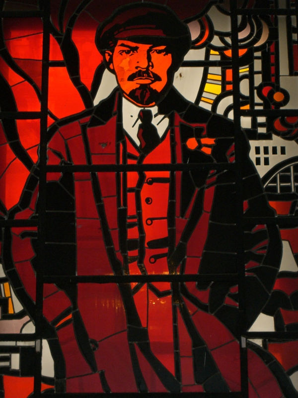 Museum of Political History St Petersburg, Stained glass window of Lenin - Museum of Political Histor… | Flickr