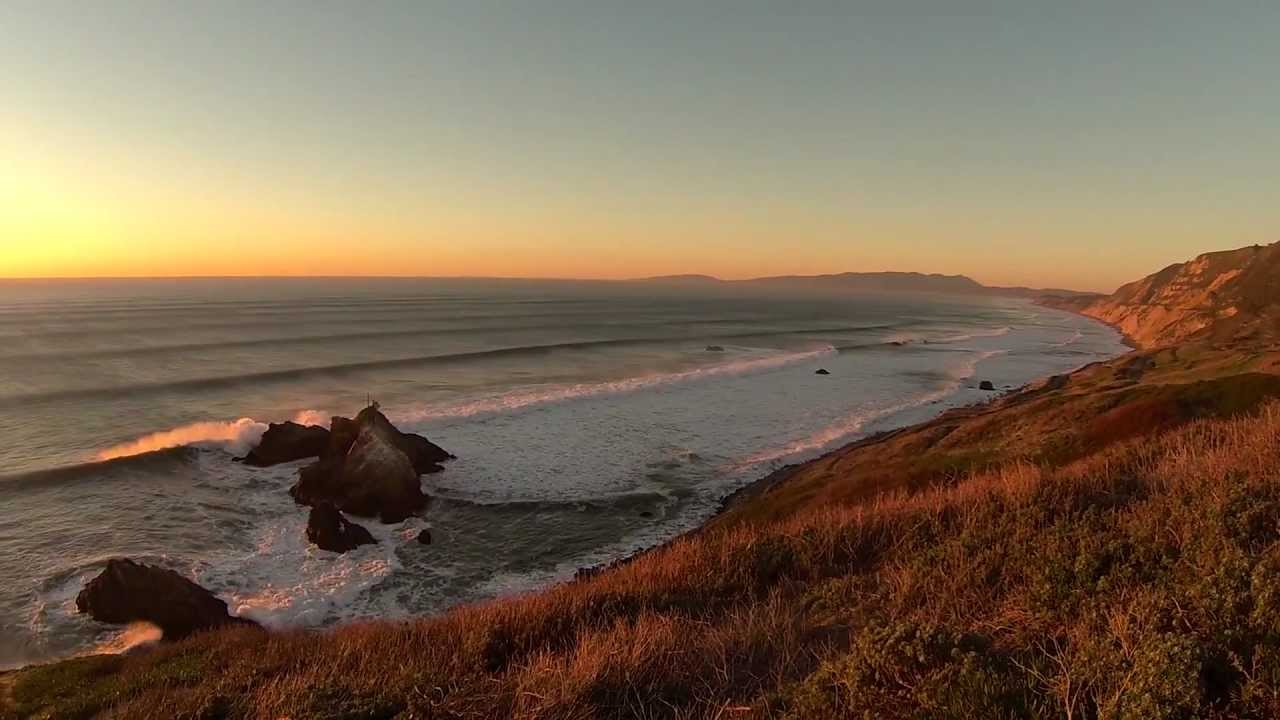 Mussel Rock Park Peninsula, Big waves, sensational sunset. Mussel Rock, The Dumps, Pacifica ...