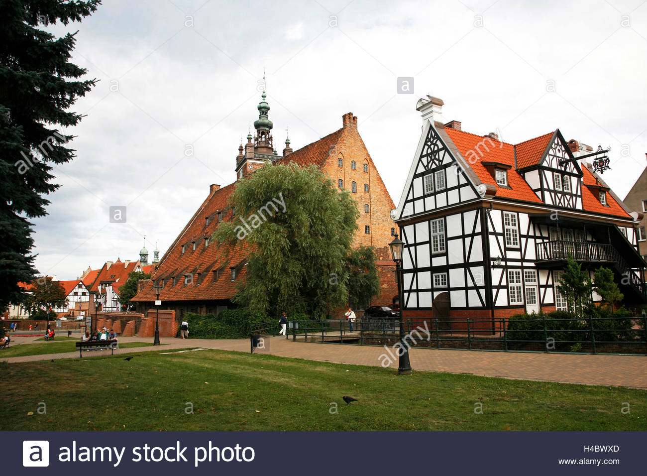 Muzeum Etnograficzne The Baltic Coast and Pomerania, St Catherines Church in Gdansk, Poland, Europe, Polish Kosciol Sw ...