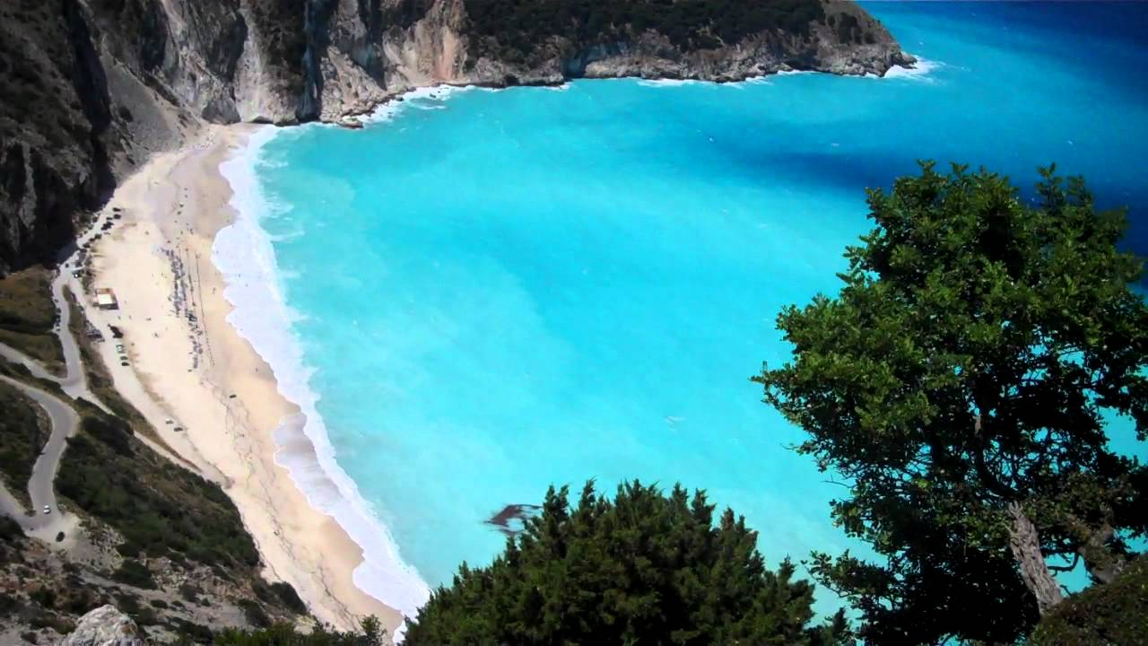Myrtos Beach Kefallonia, Myrtos beach kefalonia Greece From Road above - YouTube