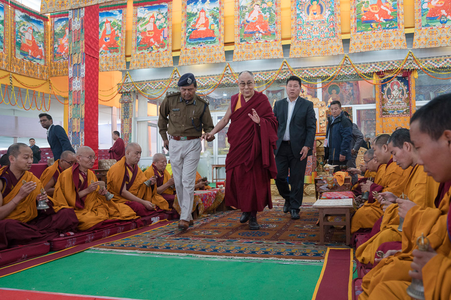 Namgyal Monastery Bodhgaya, His Holiness Leaves Bodh Gaya after Successful Completion of 34th ...