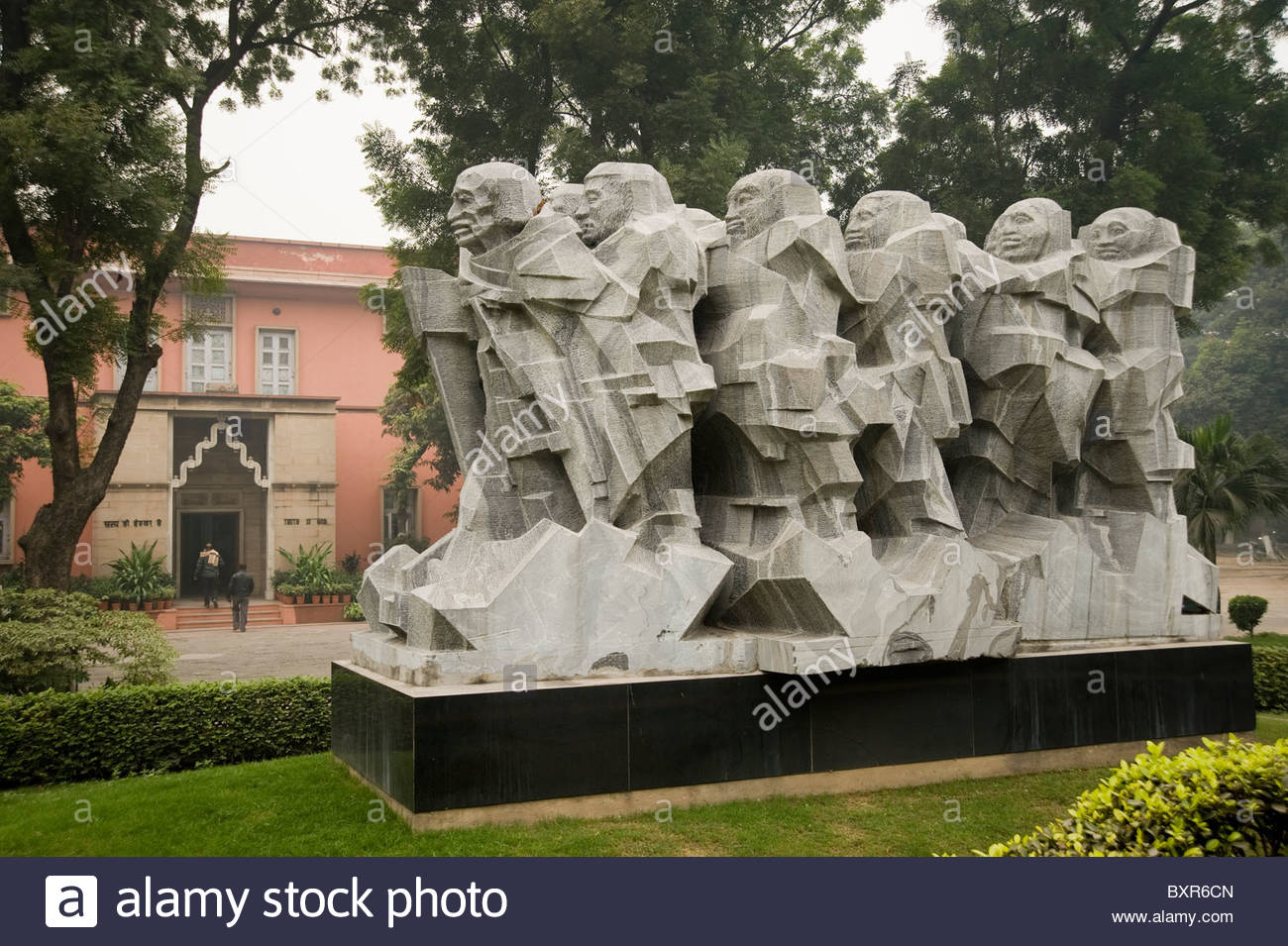 National Gandhi Museum Delhi, Monument representing Mahatma Gandhi leading the Salt March at The ...