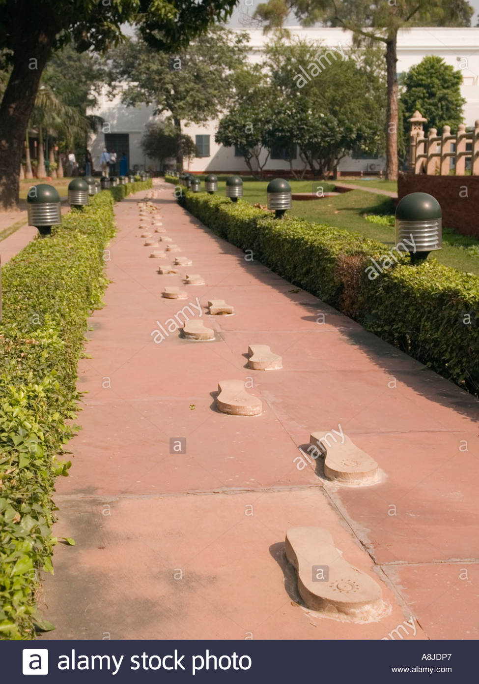 National Gandhi Museum Delhi, National Gandhi Museum with footprints marking Gandhi's last walk ...