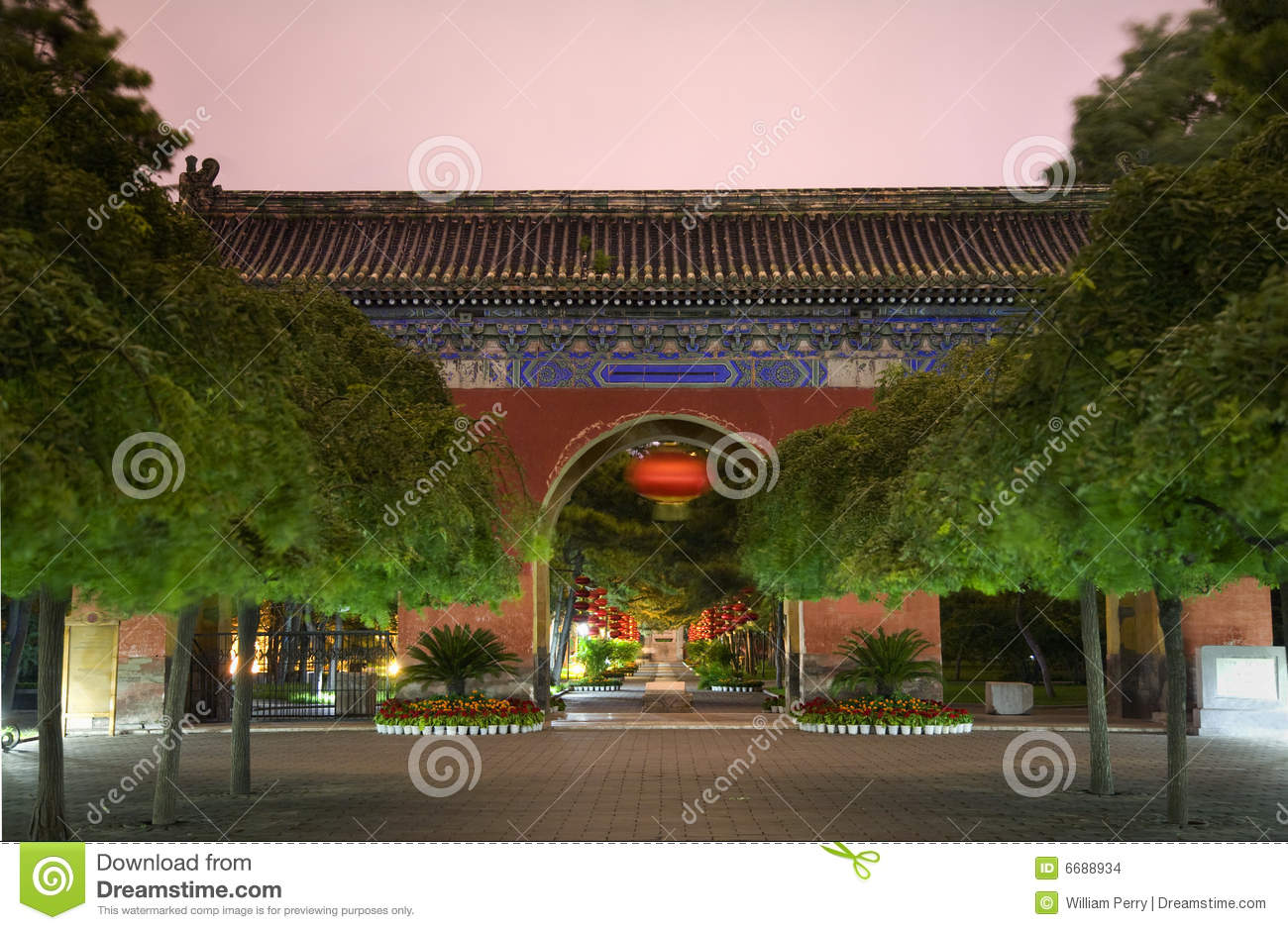 National Museum of China Běijīng, Red West Heaven Gate Lanterns Temple Sun Beijing Stock Images ...
