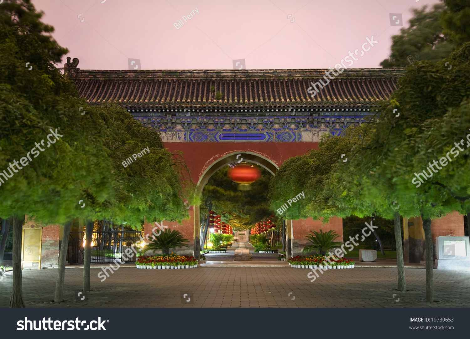 National Museum of China Běijīng, Red West Heaven Gate Lanterns Temple Stock Photo 19739653 ...