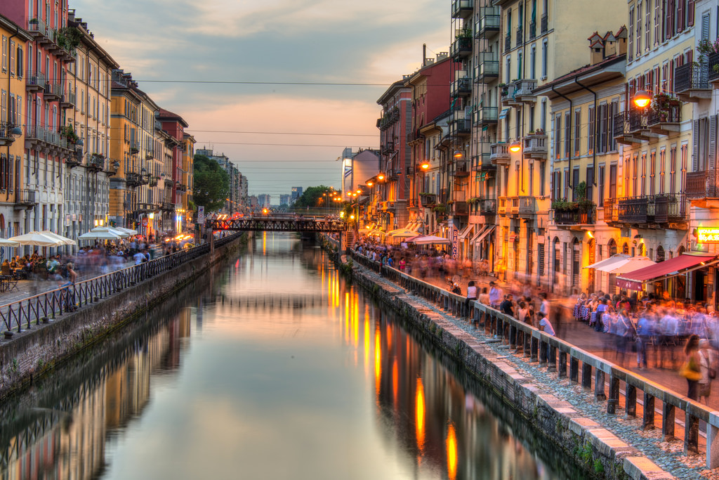 Navigli District Milan, Canal in the Navigli district of Milan | CamelKW | Flickr