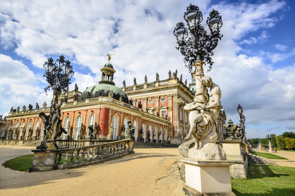 Neues Palais Potsdam, Neues Palais in Potsdam, Germany jigsaw puzzle in Puzzle of the ...