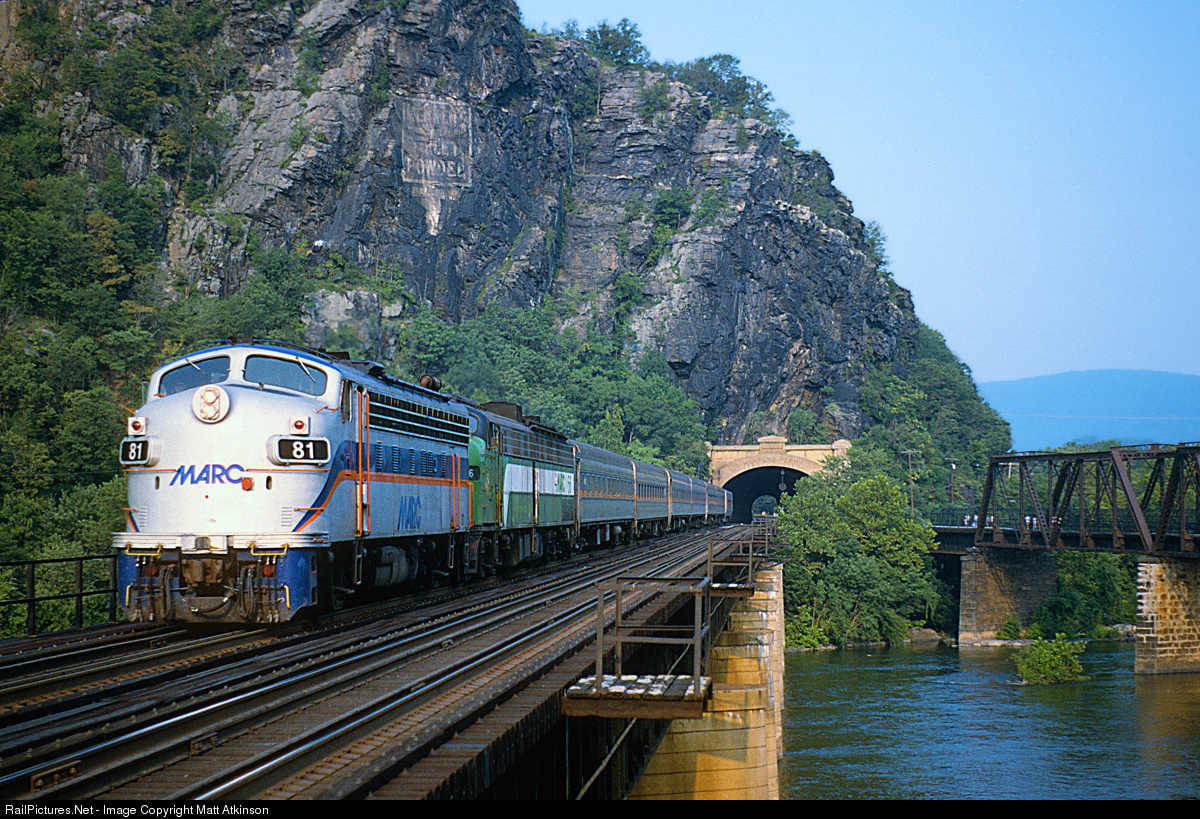 New Germany State Park Frederick and Western Maryland, An afternoon MARC train: MARC 81 MARC (Maryland Area Rail Commuter ...