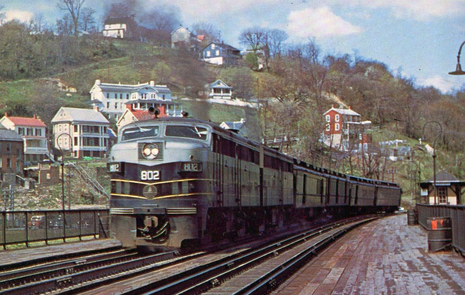 New Germany State Park Frederick and Western Maryland, Tony Howe rendering of a B&O passenger train at Harpers Ferry ...