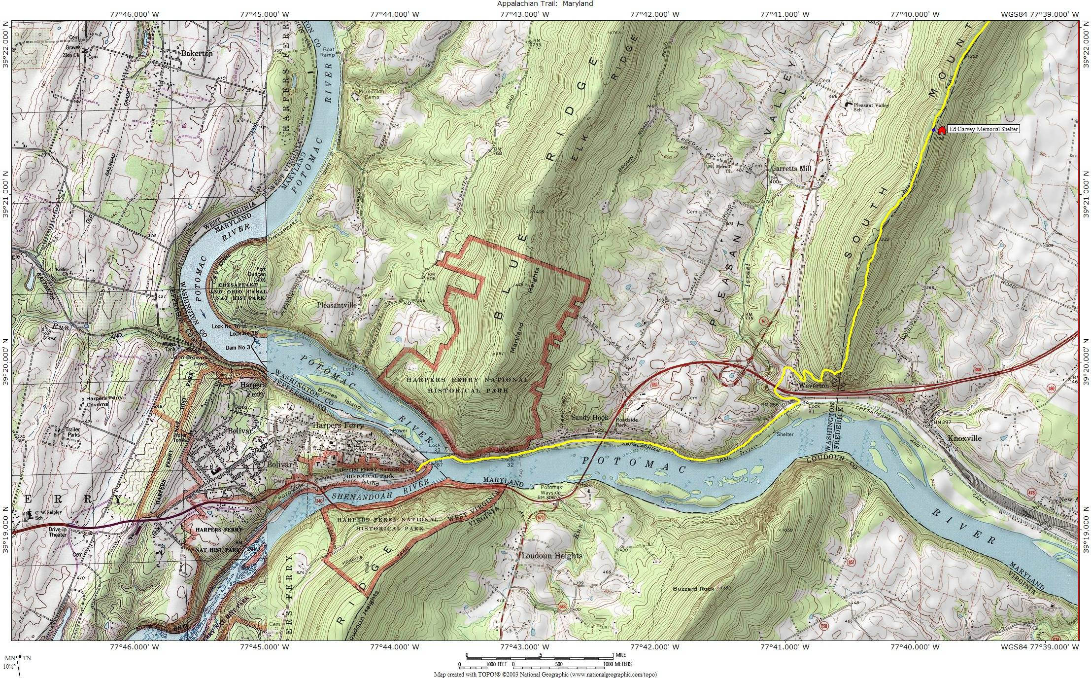 New Germany State Park Frederick and Western Maryland, East Coast IV: C&O Canal–Antietam-Harpers Ferry Area