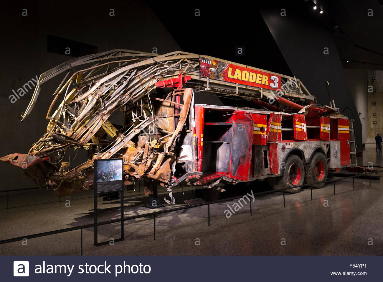 New York Stock Exchange (NYSE) New York City, New York City Fire Department Ladder Company 3 exhibit at 9/11 ...