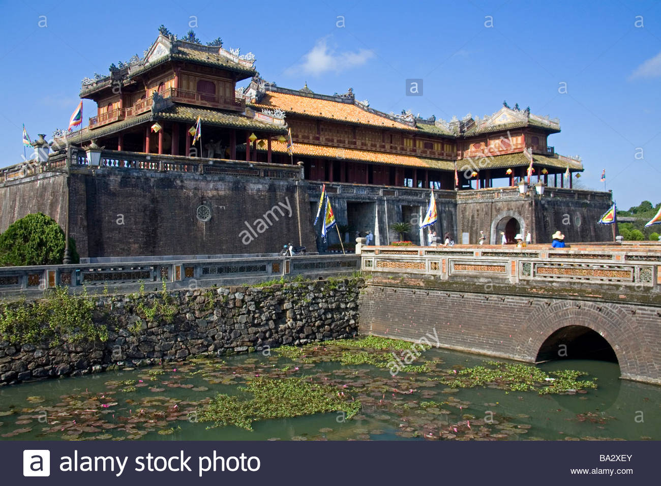 Ngo Mon Gate Hue, The Ngo Mon Gate at the entrance to the Imperial Citadel of Hue ...