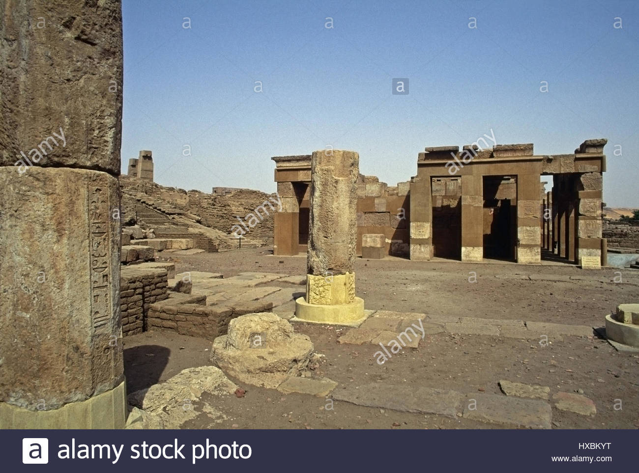 Nilometer of Satet Aswan, Elephantine Island Aswan Egypt restoration temple Satet Senusret ...