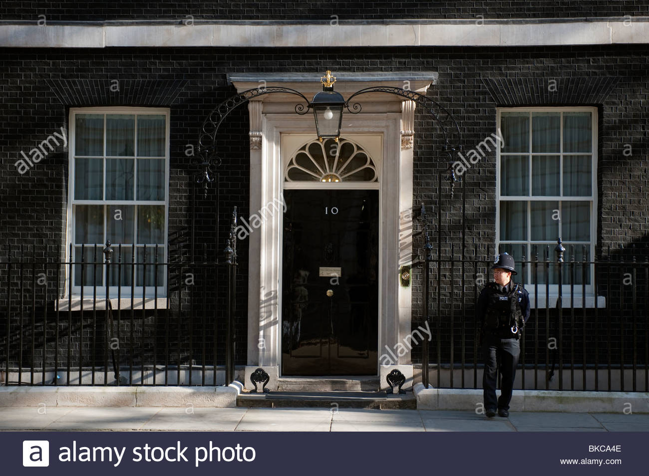 No 10 Downing Street London, No 10 Downing Street in London, England. Residence of the Prime ...