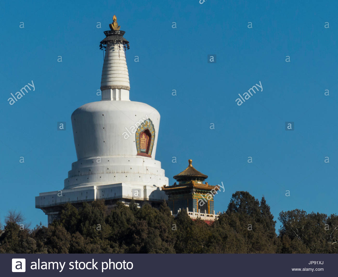 North Heavenly Gate Běijīng, White Dagoba Stock Photos & White Dagoba Stock Images - Alamy