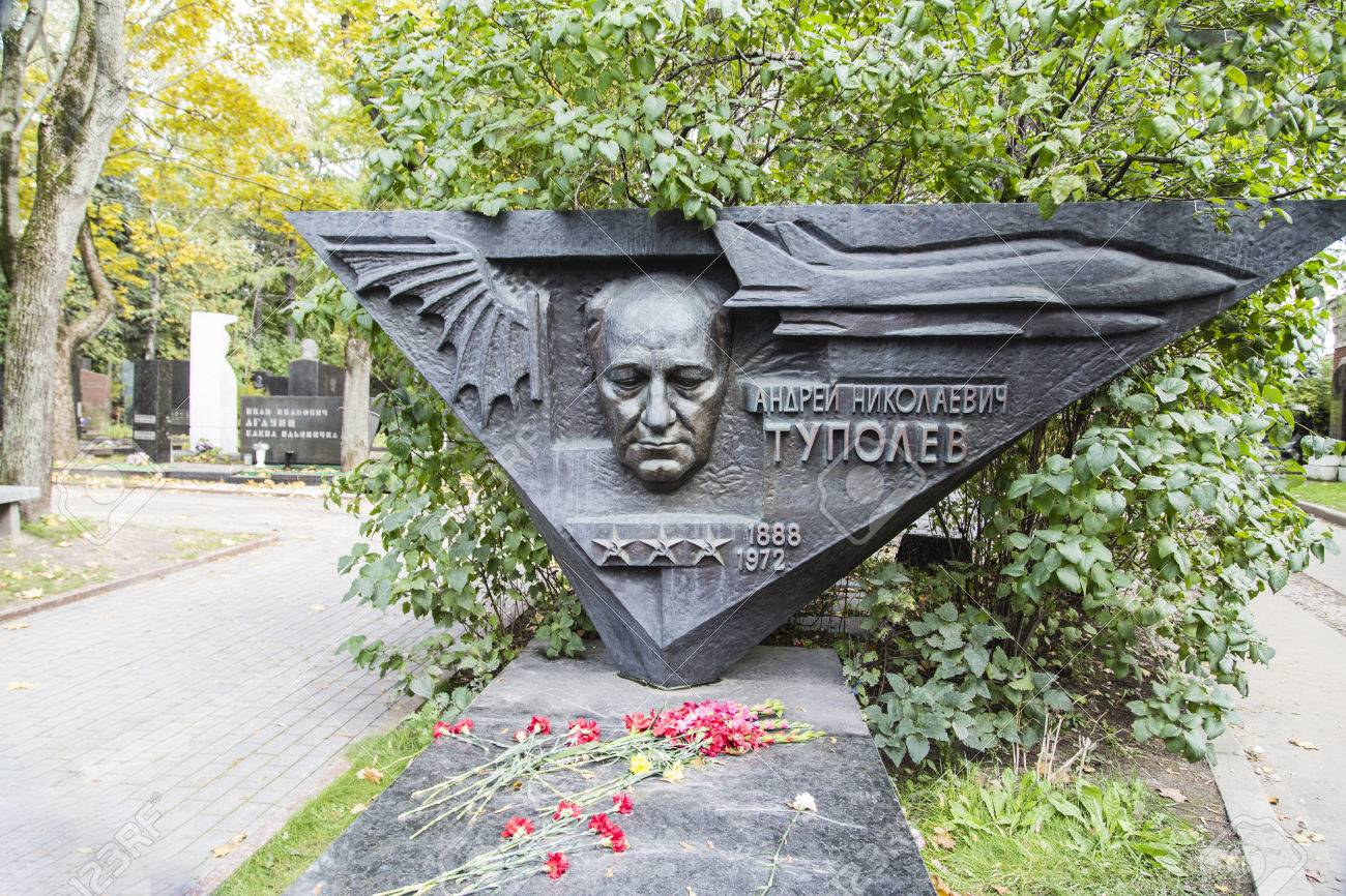 Novodevichy Cemetery Moscow, Tupolev Tomb In Novodevichy Cemetery ,moscow Stock Photo, Picture ...