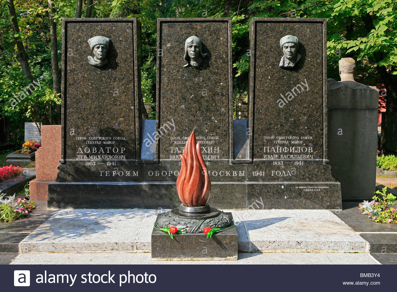 Novodevichy Cemetery Moscow, Grave and monument to the Defenders of Moscow at Novodevichy ...