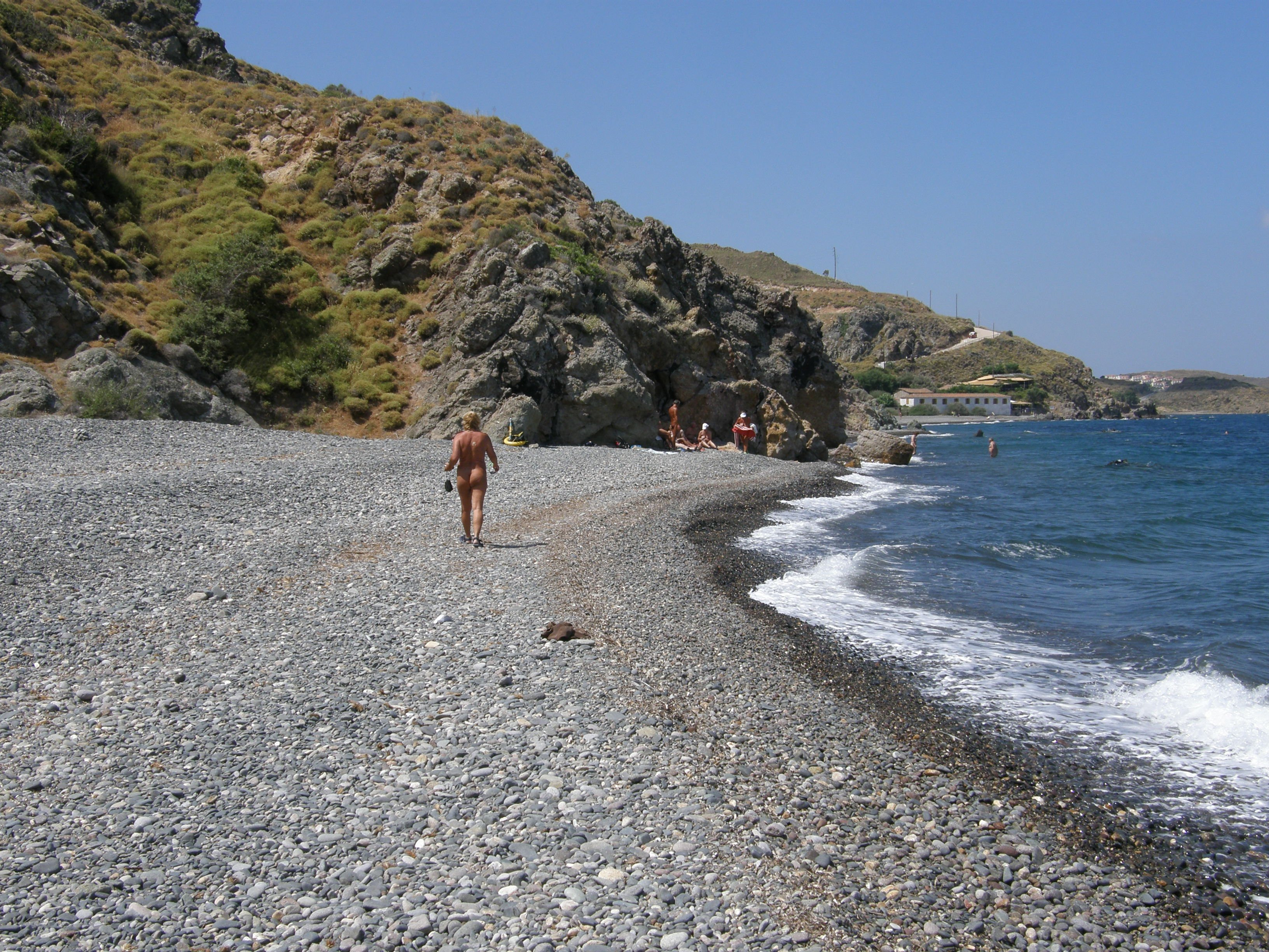 Nudist Beach The Northern Aegean Islands, Eftalou nude beach Photo from Agii Anargyri Efthalous in Lesvos ...