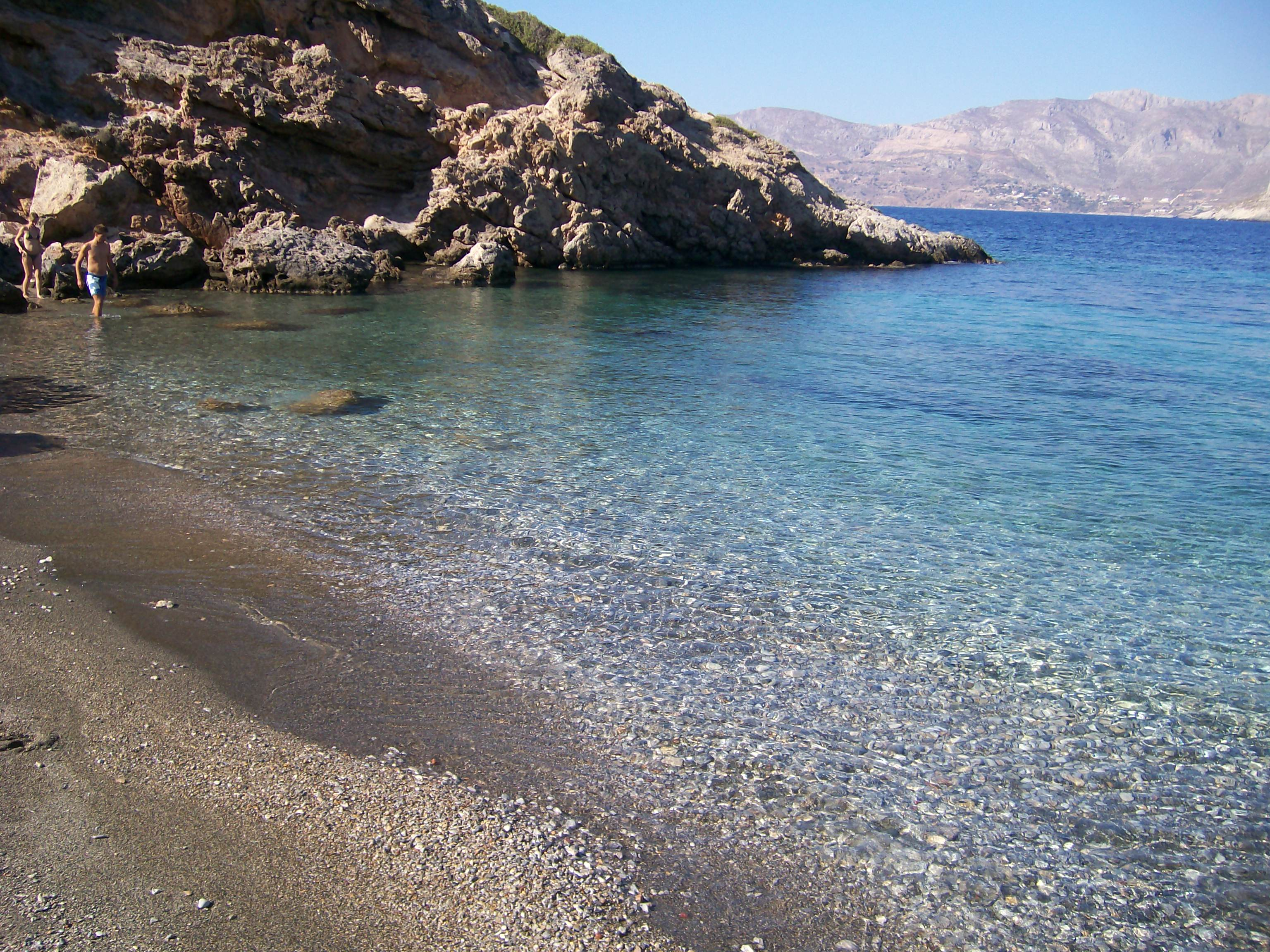 Nudist Beach The Northern Aegean Islands, TELENDOS ISLAND -NUDIST BEACH Photo from Telendos in Kalymnos ...