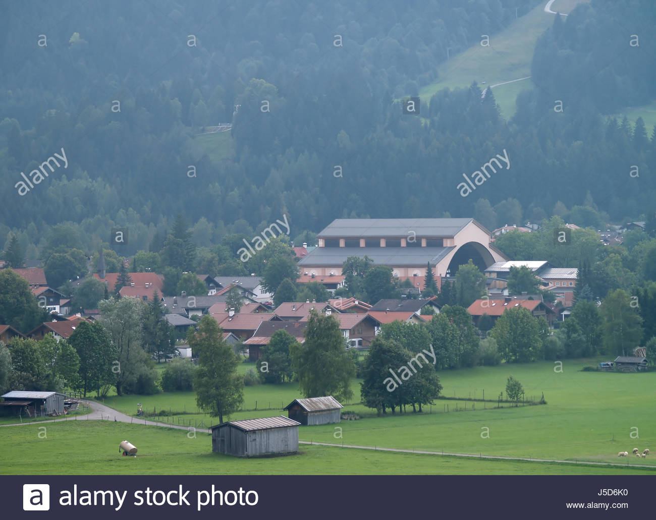 Oberammergau Passionsspielhaus The Bavarian Alps, oberammergau passion play Stock Photo, Royalty Free Image ...