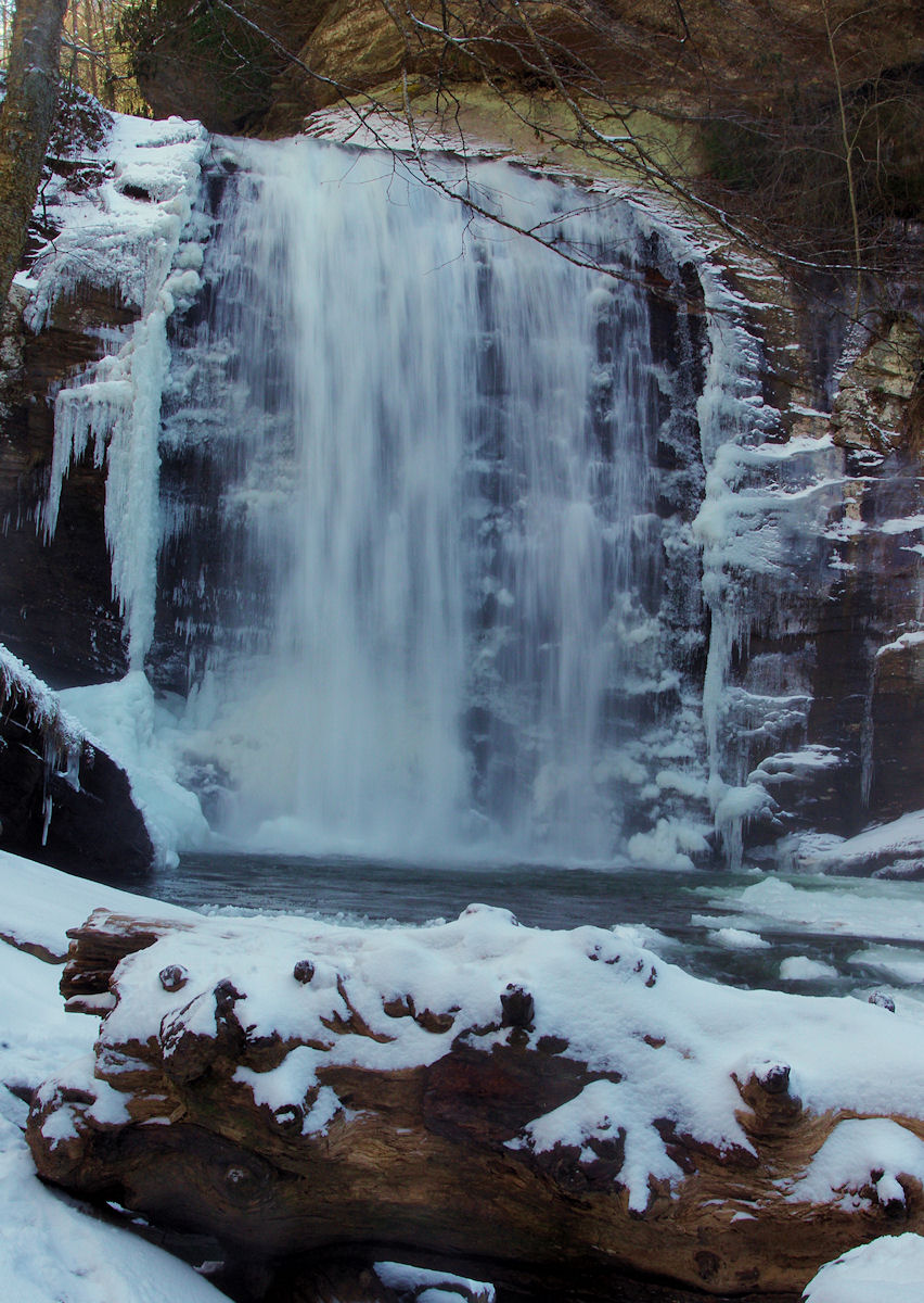 Oconaluftee Indian Village The North Carolina Mountains, Looking Glass Falls in NC mountains with snow and ice. | North ...