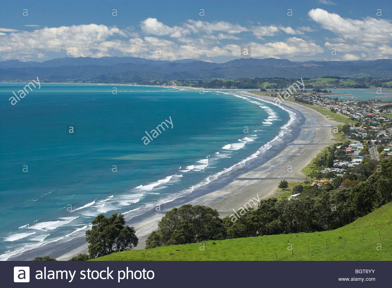 Ohope Beach The Coromandel and the Bay of Plenty, Ohope Beach, Bay of Plenty, North Island, New Zealand Stock Photo ...