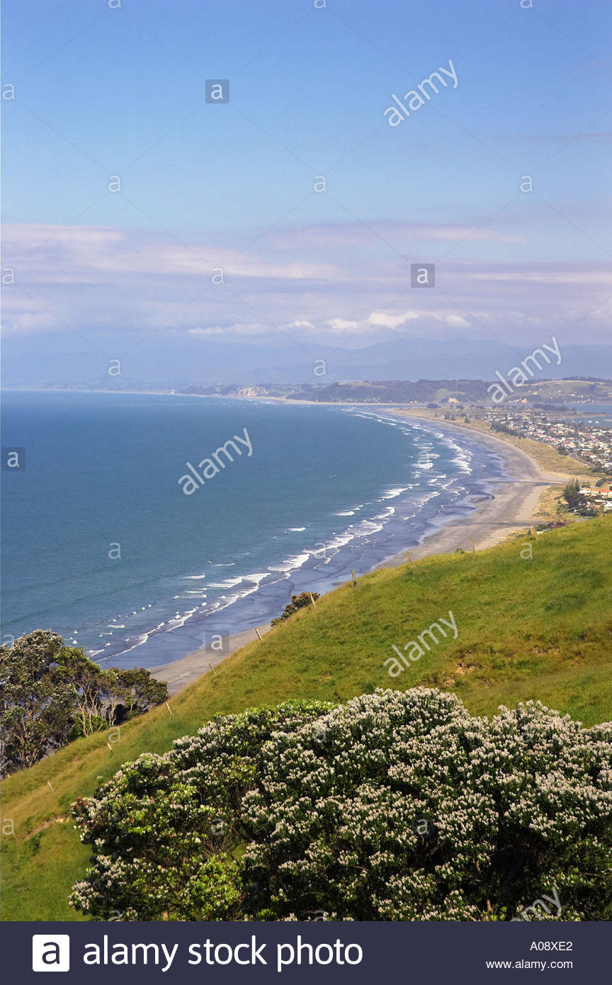 Ohope Beach The Coromandel and the Bay of Plenty, Ohope Beach near Whakatane Bay of Plenty New Zealand Stock Photo ...