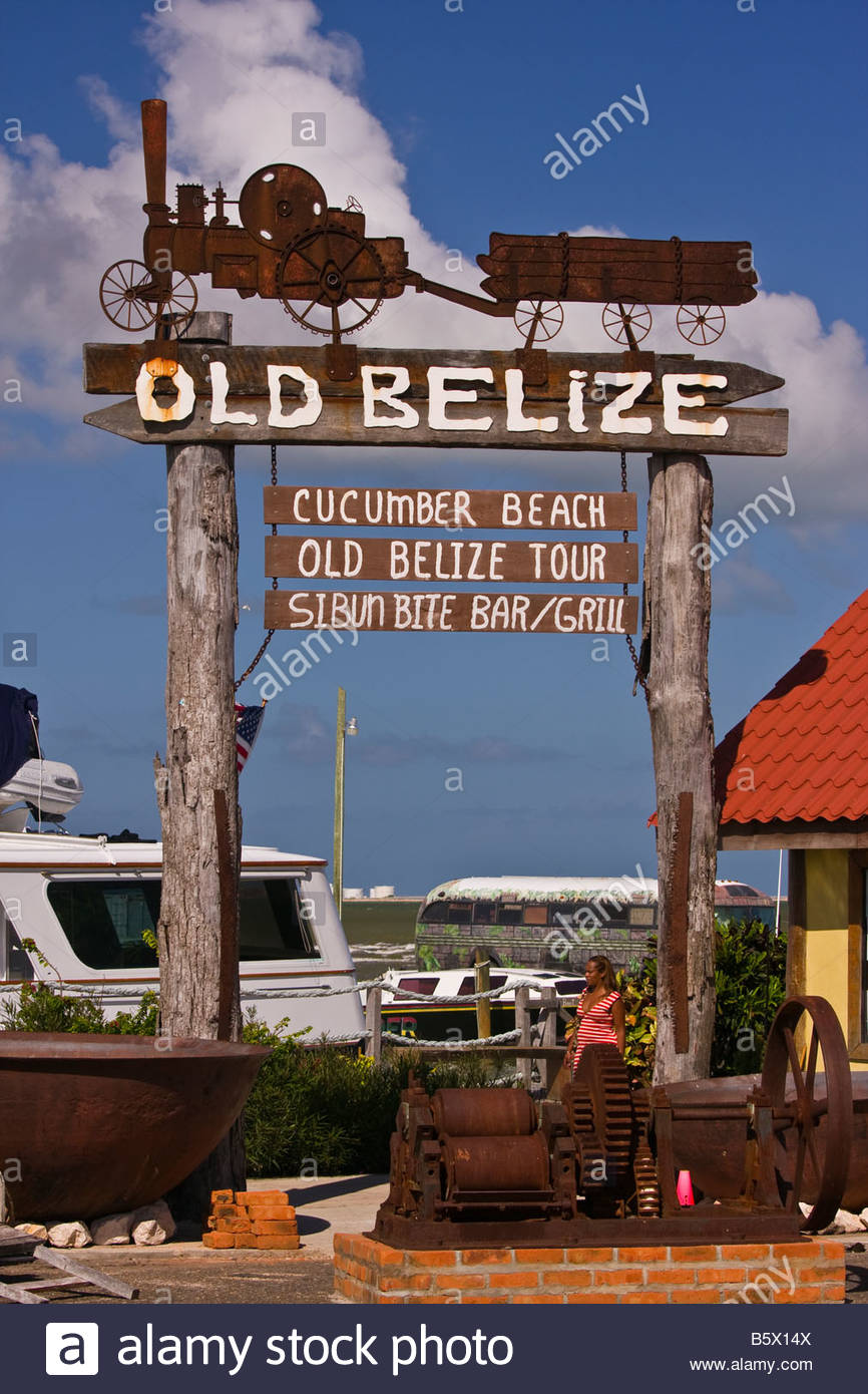 Old Belize Belize City, BELIZE CITY BELIZE Entrance to Old Belize Adventure Cultural and ...