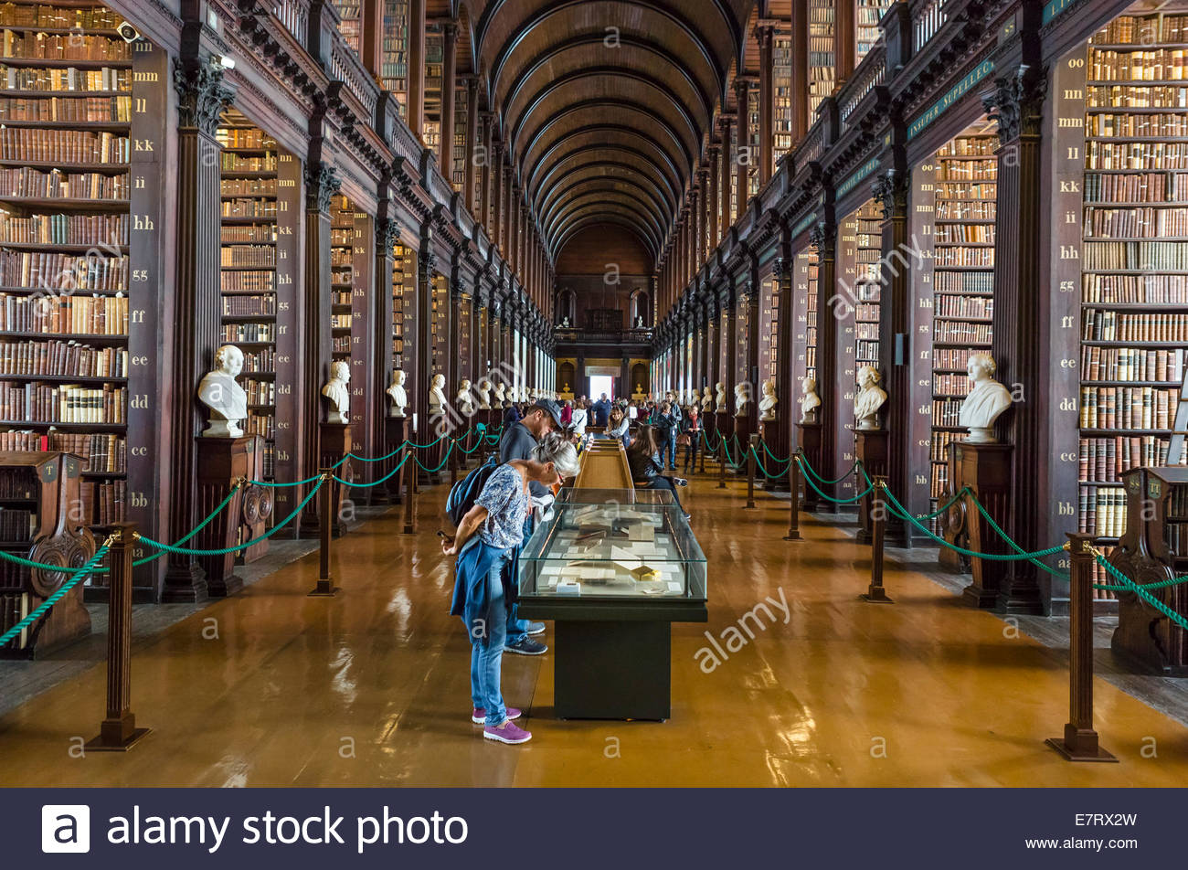 Old Library & Book of Kells Dublin, The Long Room in The Old Library, Trinity College, Dublin, Ireland ...