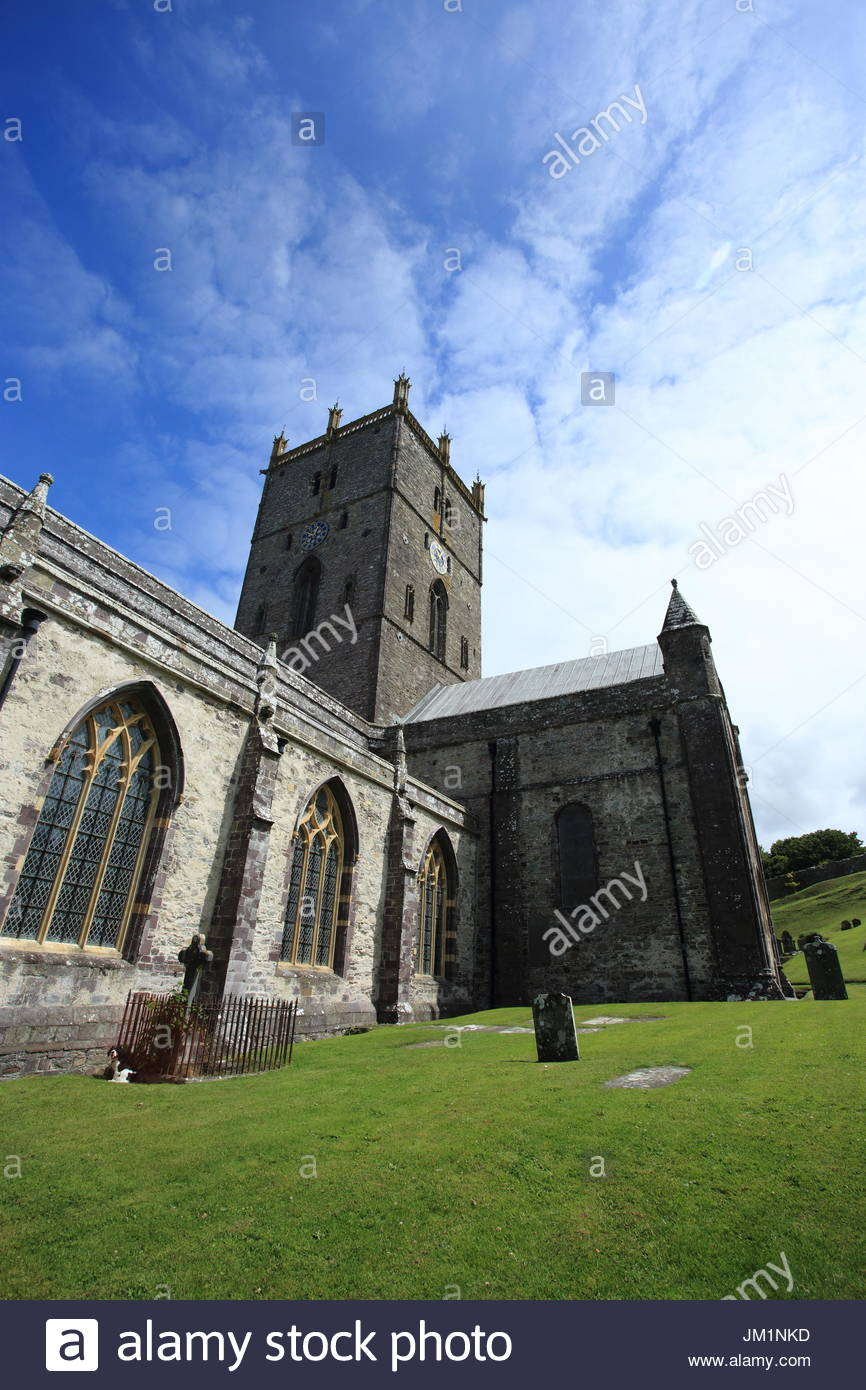 St Davids Head St Davids (Tyddewi), Pembrokeshire National Park Wales St Davids Cathedral Stock Photos ...