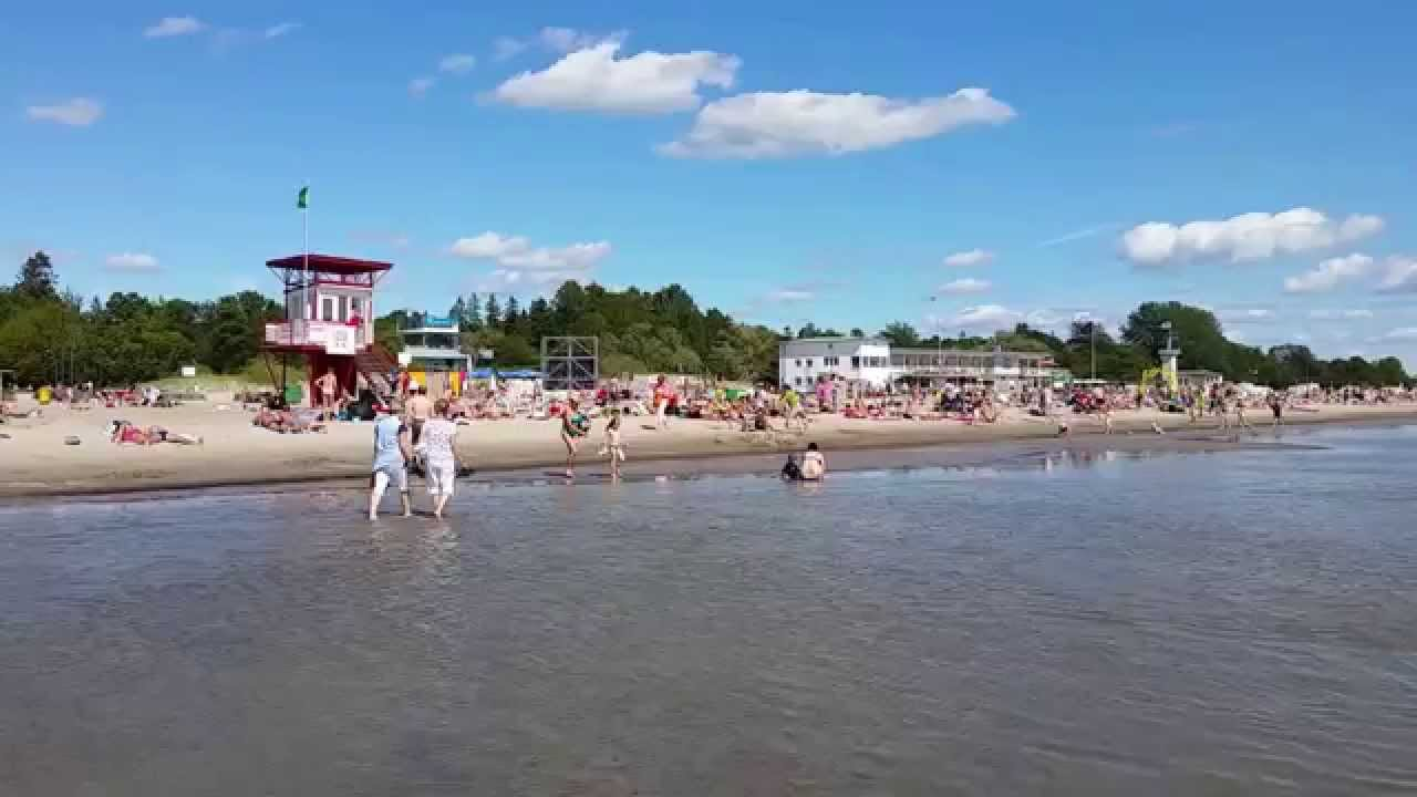 Pärnu Beach Pärnu, Pärnu - The summer capital of Estonia - YouTube