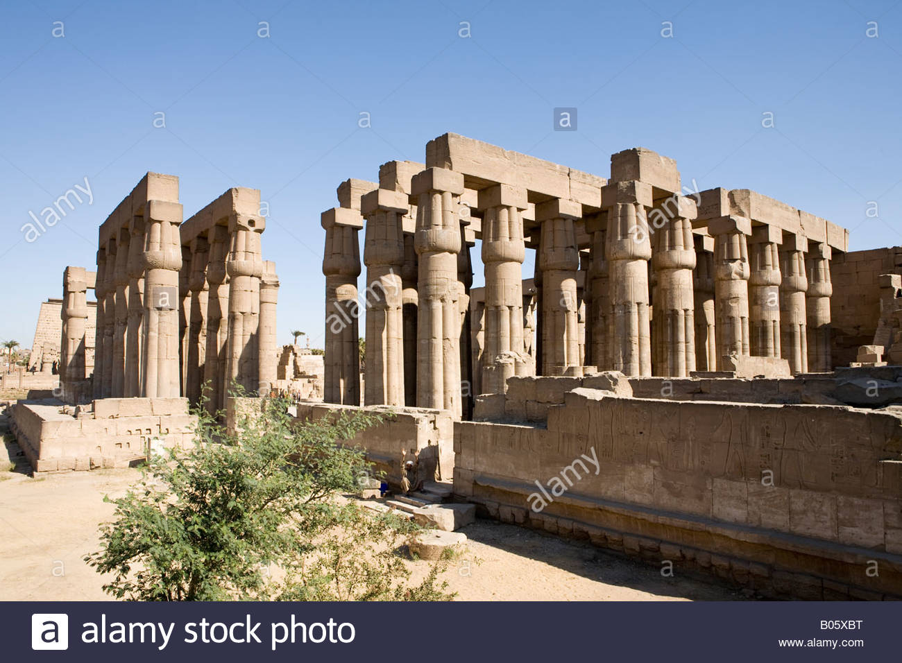 Palace of Amenhotep III Luxor, The Sun Court and Hypostyle Hall of Amenhotep III at Luxor Temple ...