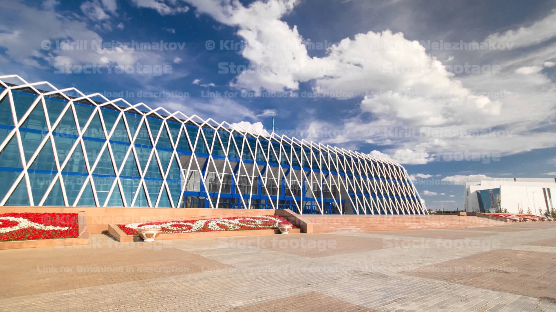 Palace of Independence Astana, Central Asia, Kazakhstan, Astana, Palace of Independence timelapse ...