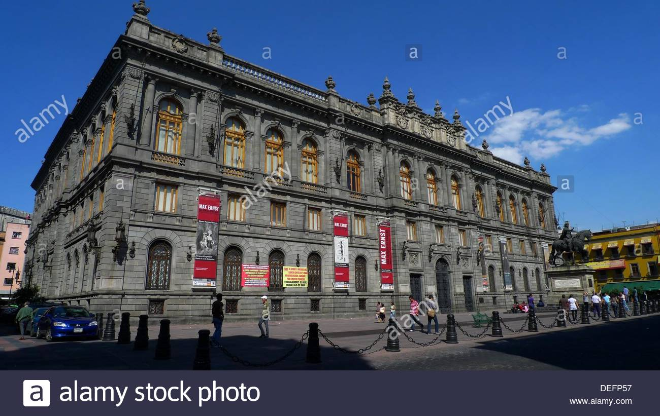 Palacio Nacional Mexico City, Museo Nacional de Arte (MUNAL). Mexico City Stock Photo, Royalty ...