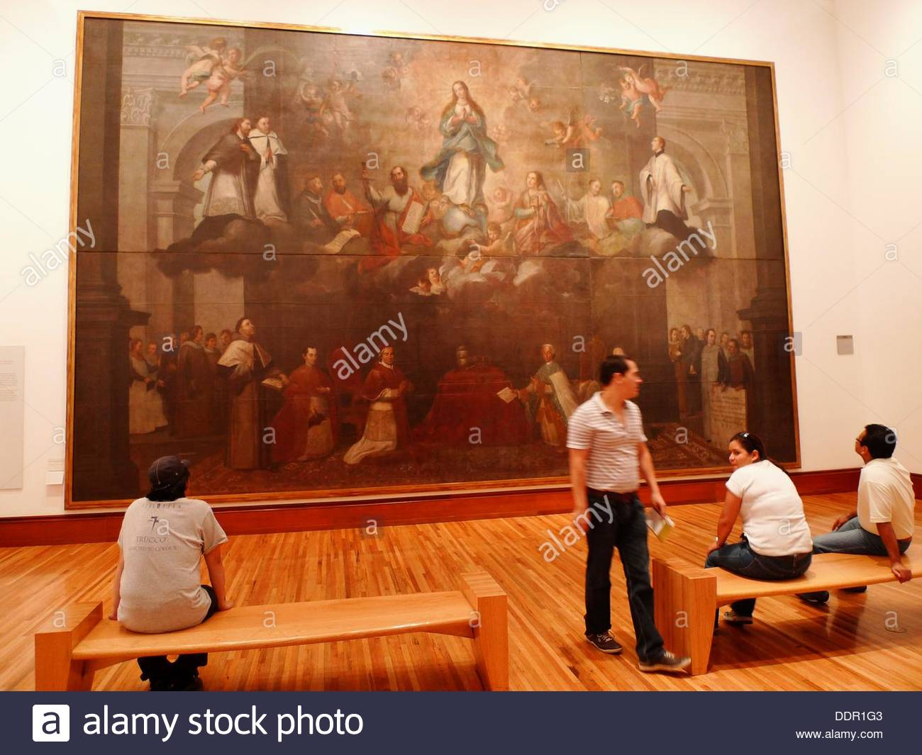 Palacio Nacional Mexico City, Exhibition hall. Museo Nacional de Arte (MUNAL). Mexico City Stock ...