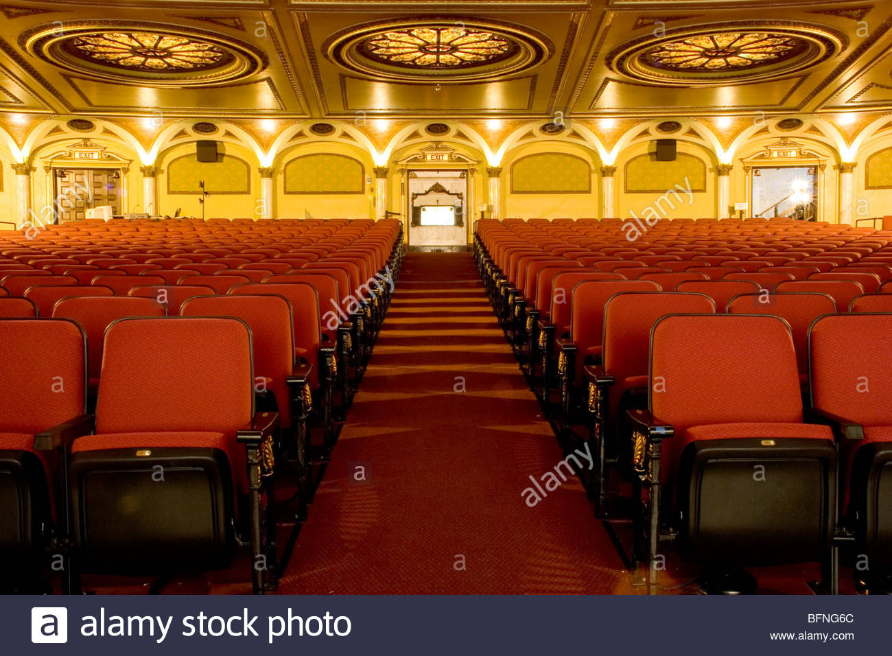 Pantages Theatre Los Angeles, The interior of the Orpheum Theatre, Broadway, downtown Los ...