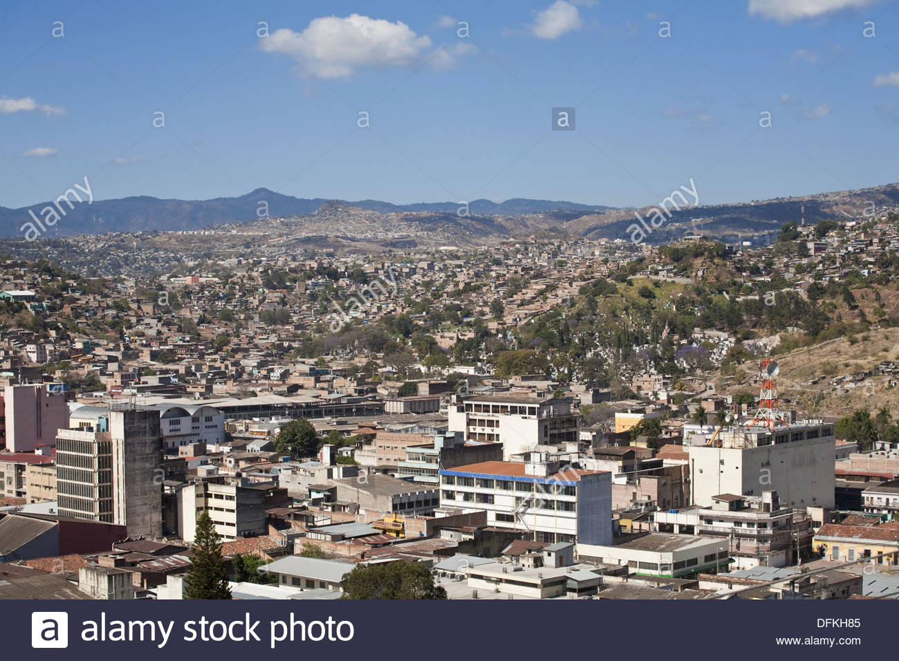 Parque La Leona Tegucigalpa, View of city from Parque La Leona, Tegucigalpa, Honduras Stock ...