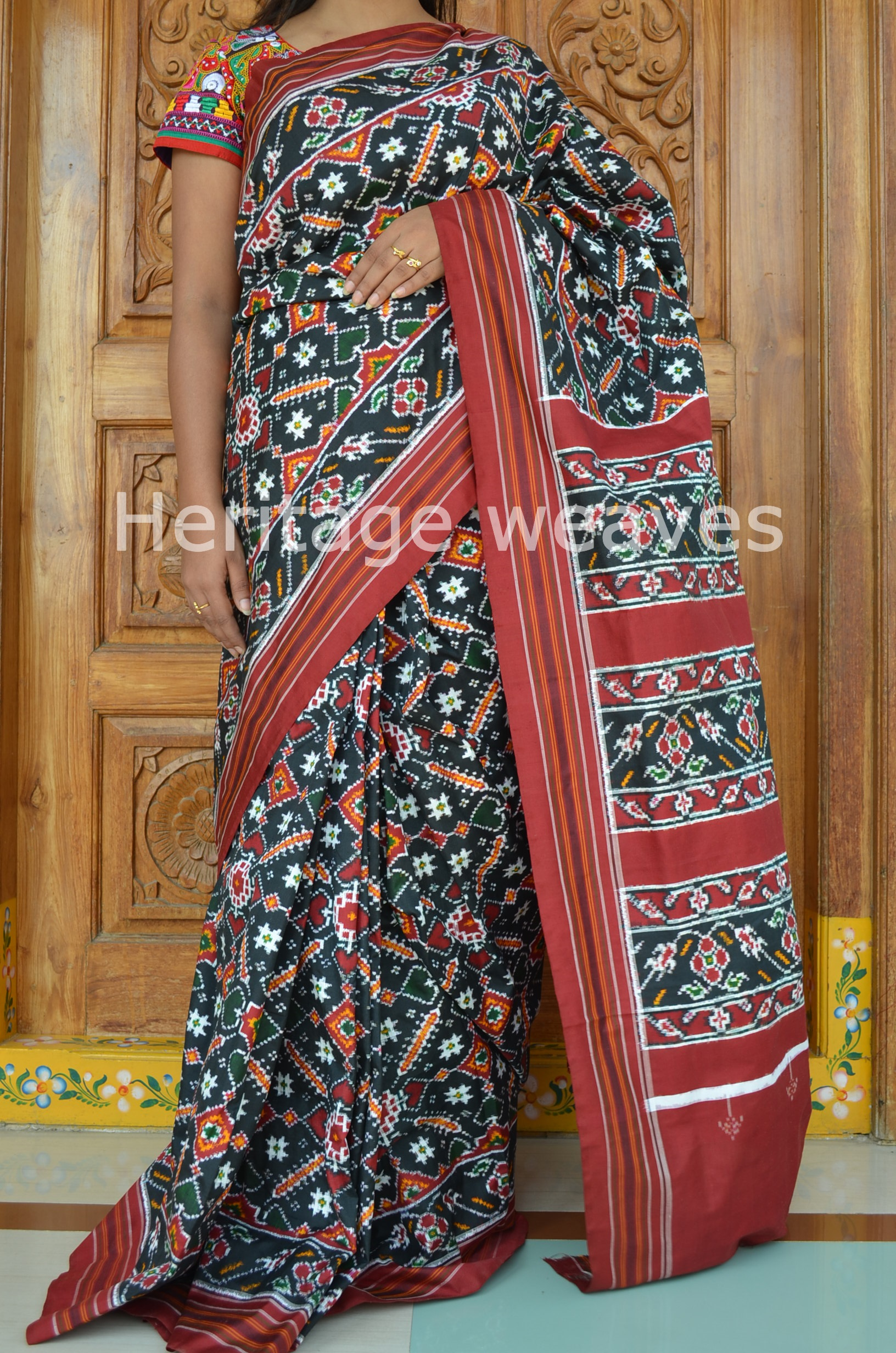 Patan Patola Heritage Museum Patan, indian roots pink sarees | Banarasi Silk Bandhani Saree | indian ...