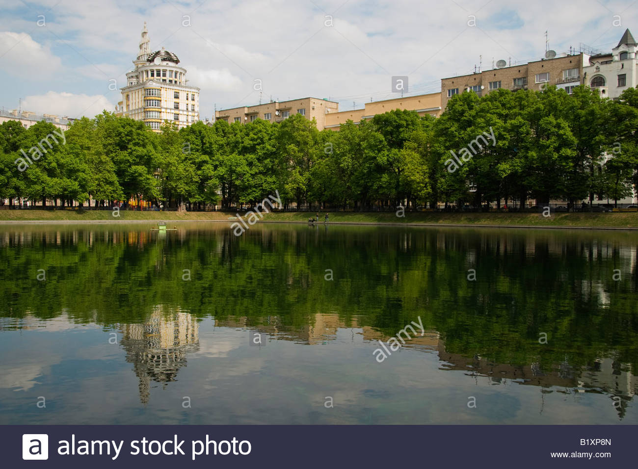 Patriarch's Ponds Moscow, Patriarch's Pond, Moscow, Russia Stock Photo, Royalty Free Image ...