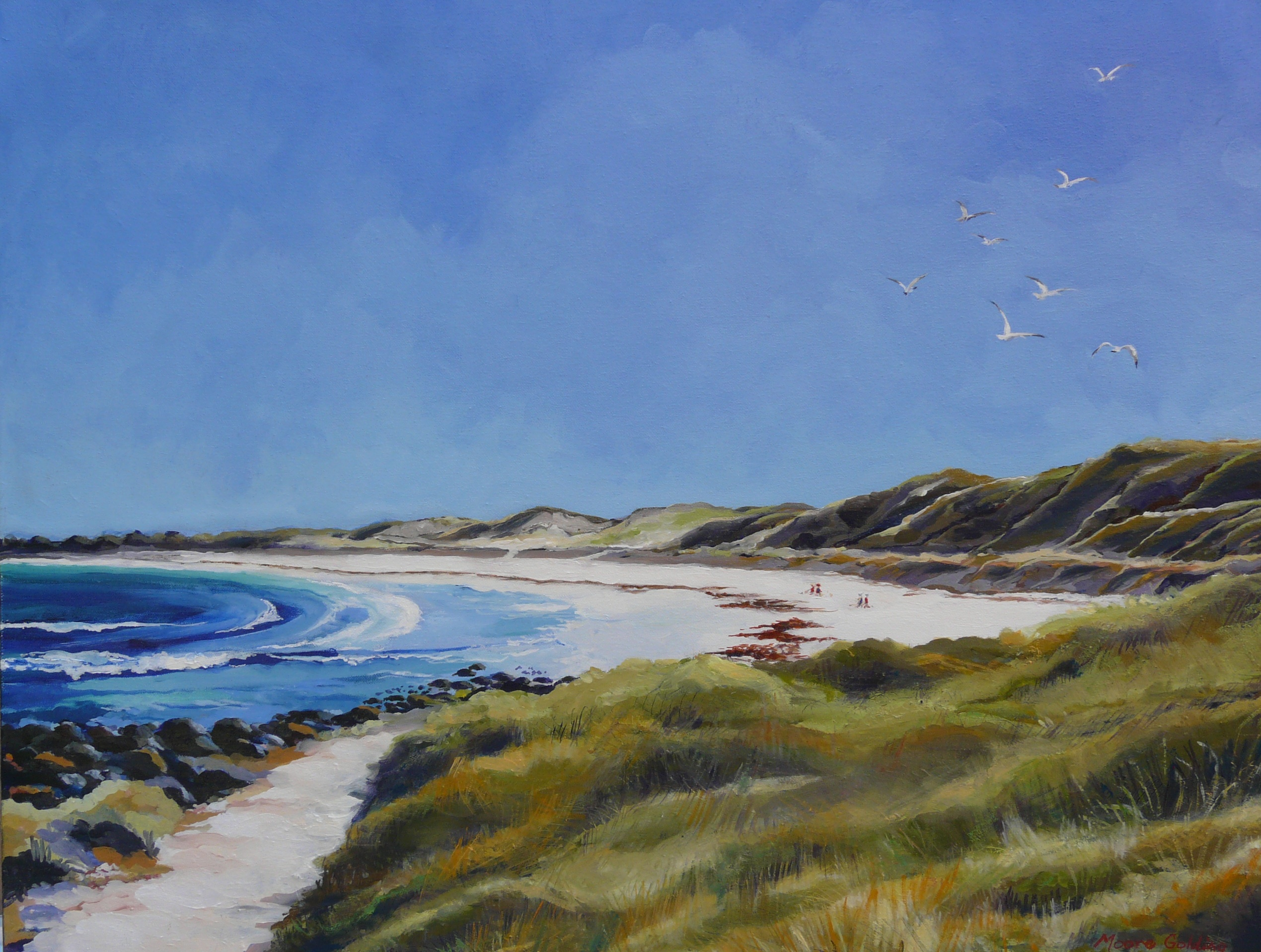Pea Soup Port Fairy, painting of path to pea soup beach port fairy | Elizabeth Moore ...