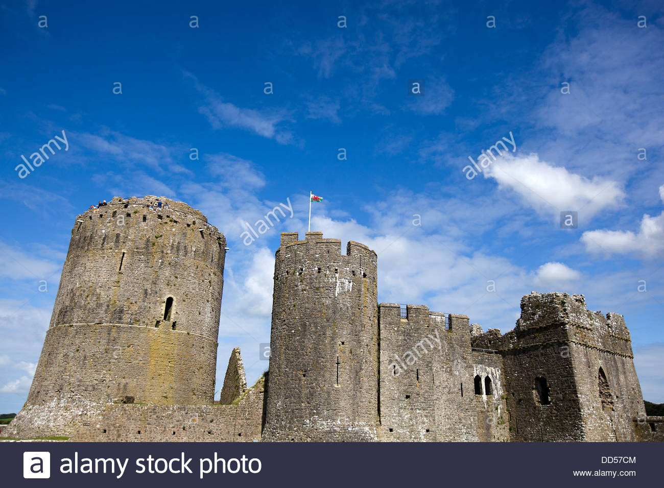 Pembroke Castle Pembroke (Penfro), Pembroke Castle (Welsh: Castell Penfro), Wales Stock Photo ...