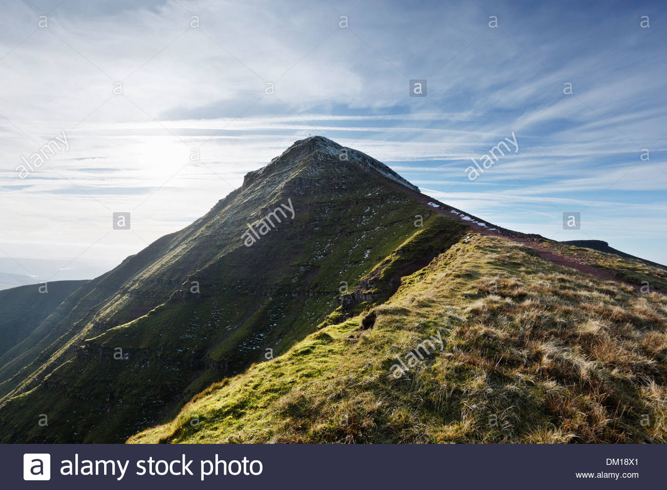 Pen-y-Fan Brecon Beacons National Park, Pen y Fan Summit. Highest mountain in Southern Britain. Brecon ...