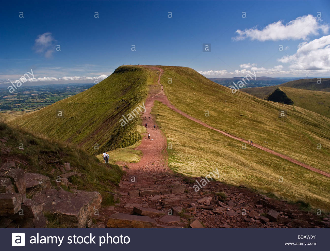 Pen-y-Fan Brecon Beacons National Park, Pen Y Fan - Brecon Beacons National Park - South Wales Stock Photo ...