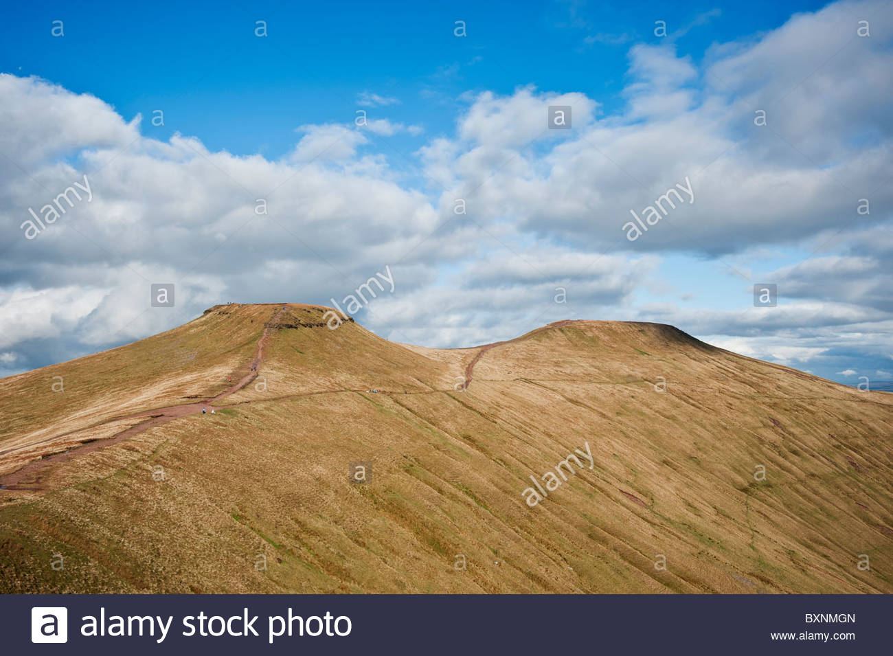 Pen-y-Fan Brecon Beacons National Park, Scenic view of Corn Du and Pen Y Fan, Brecon Beacons national park ...
