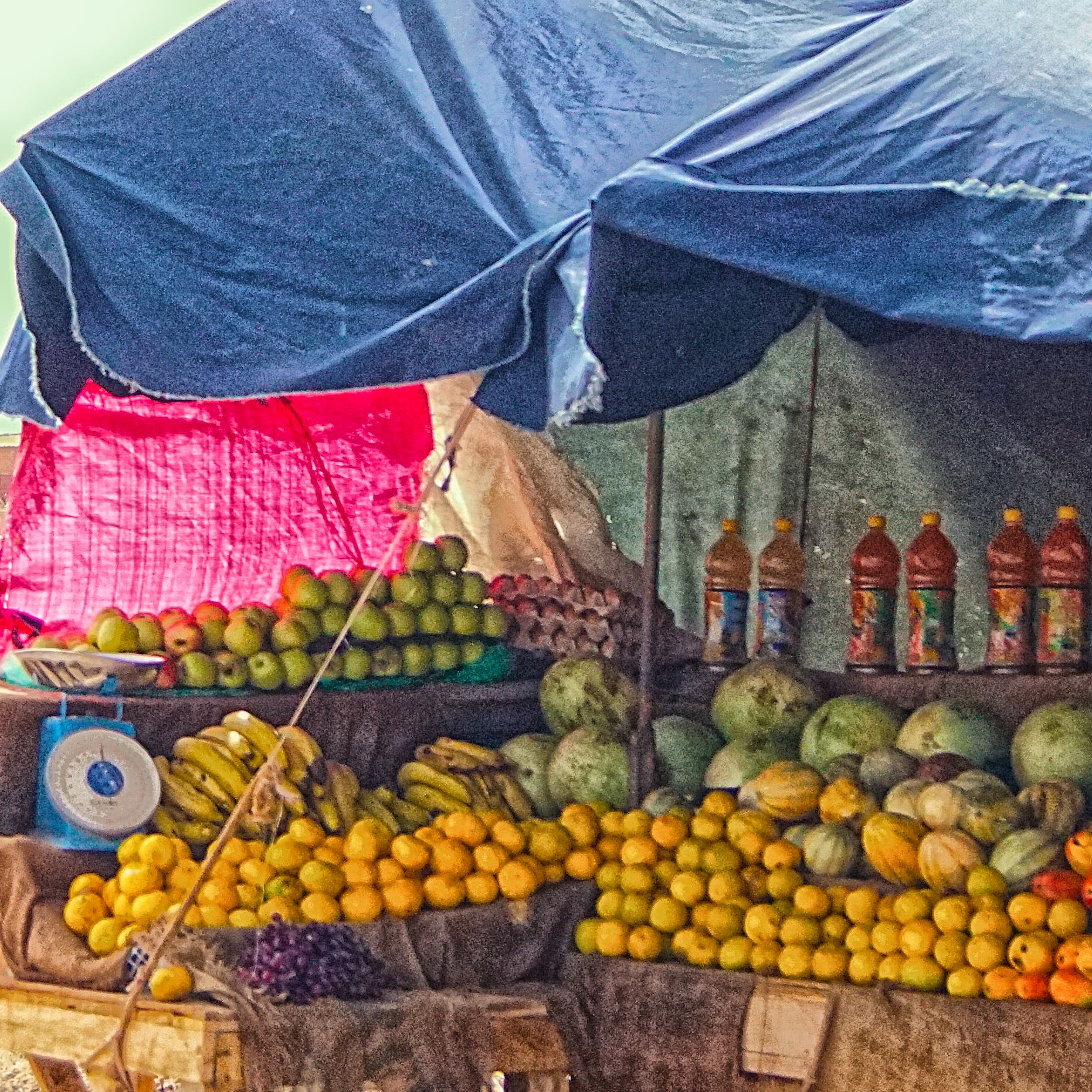 Petit Marché Niamey, A typical fruit stand in the Petit Marché (little Market), in ...