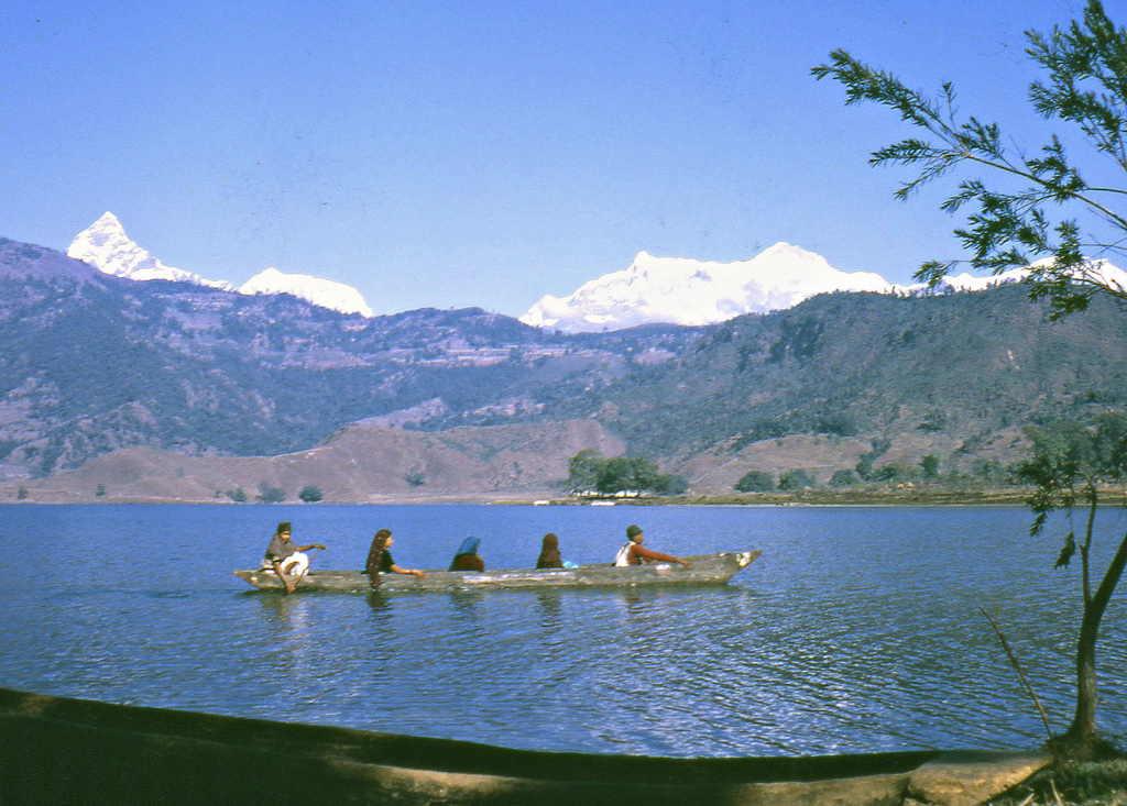 Phewa Tal Pokhara, Phewa Tal, Pokhara, Nepal, 1968 | A dugout boat on the lake … | Flickr